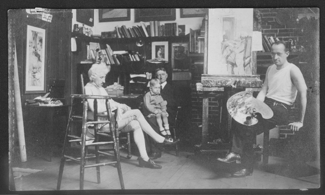 Arthus_John_Ead_Collins_seated_gayle_hoskins_father_william_t._hoskins_and_brother_james_c1912