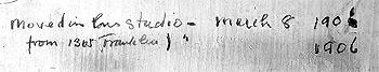 Studio Inscription