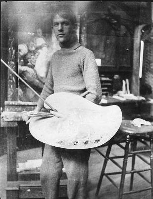 Frank E. Schoonover in his studio C. 1905