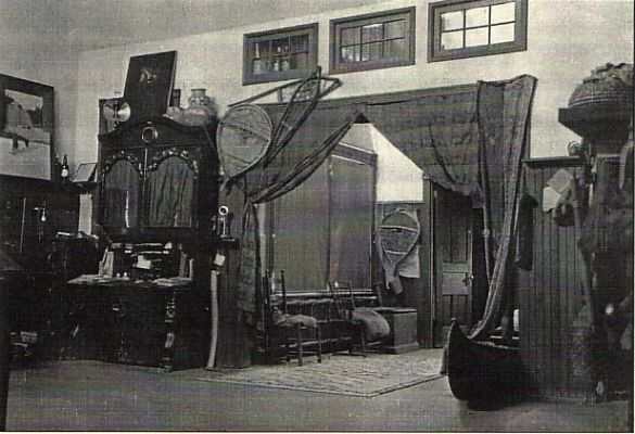 Interior of Frank E. Schoonover's studio C. 1910